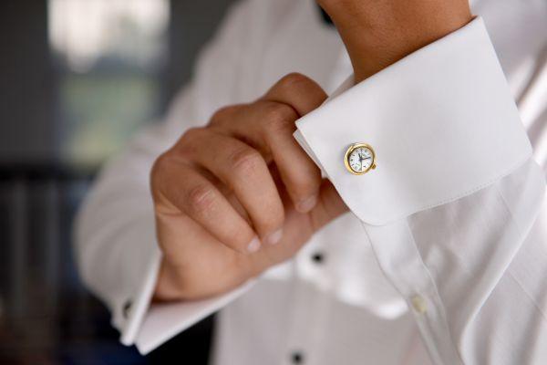 Men's Masonic Gold Plated Watch Cufflinks G412