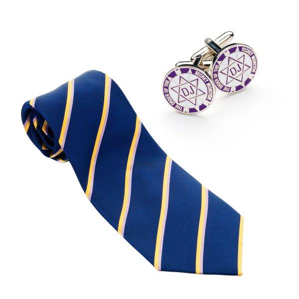 OSM Silk Woven Tie & matching Cufflinks