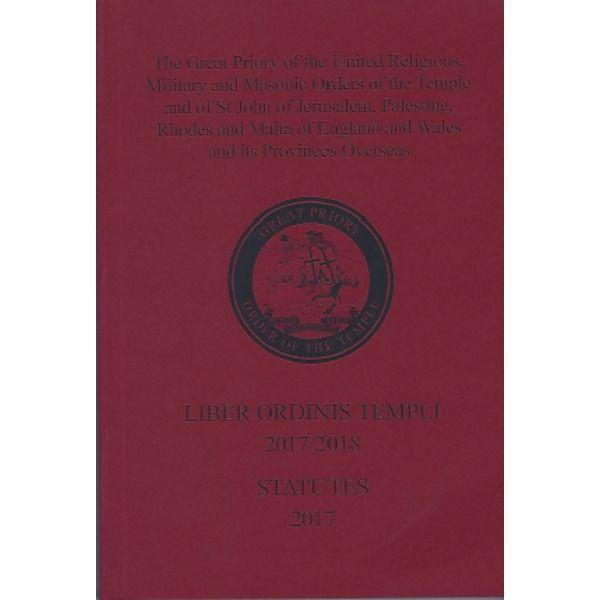 Knights Templar Yearbook Liber Ordinis Templi Statutes 2017-2018