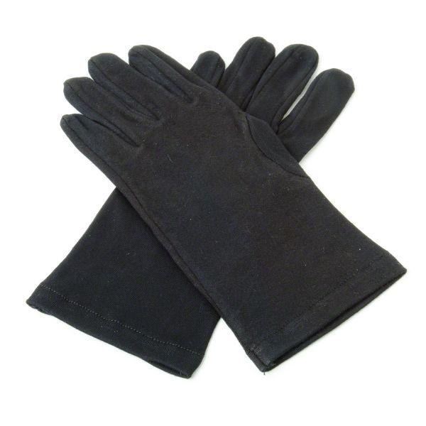 Black Cotton Knights Gloves1