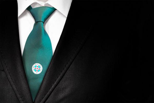 ROS Silk Woven Tie & Matching Cufflinks