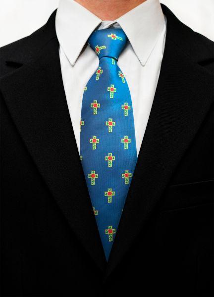 Rose Croix Masonic Silk Woven Tie