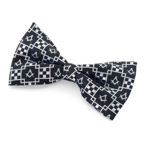 Pavement Design Silk Bowtie & Cufflinks