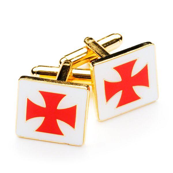 Knights Templar Tie & Matching Cufflinks