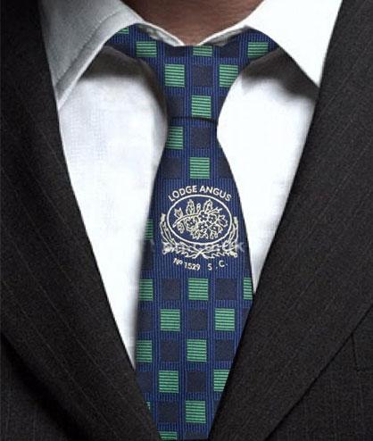 Custom Masonic Lodge Tie